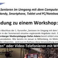Workshop Senioren Umgang PC